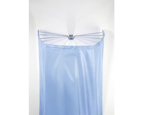 Rideau de douche éventail Ombrella chrome 12 bras sans rideau de douche