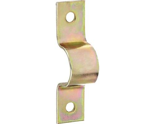Collier de 23mm pour 1/2 pouces, galvanisé jaune