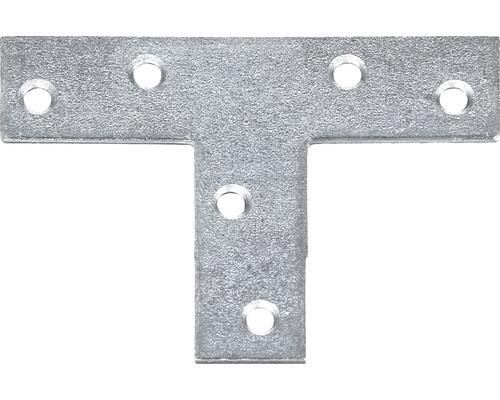 Connecteur plat en forme de T, 70x50x16mm, galvanisé sendzimir