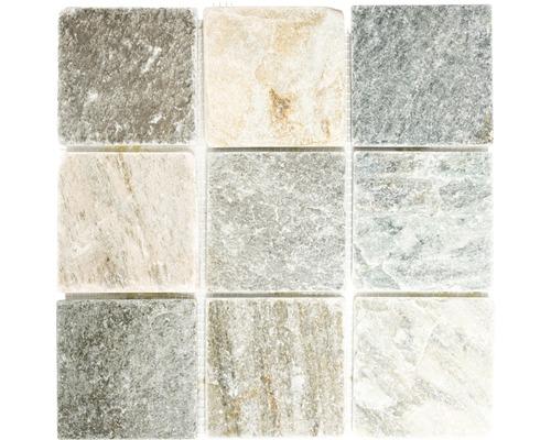 Mosaïques en pierre naturelle XQM 100L, beige-gris, 30,5 x 30,5 cm