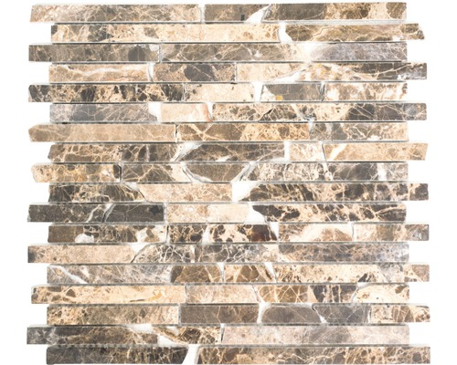 Mosaique En Pierre Naturelle MOS BRICK 2909 Marron 305x325 Cm
