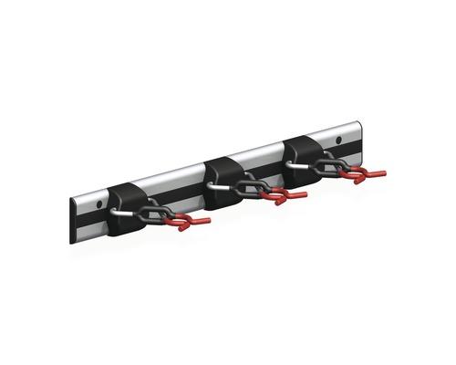 Alfer Gerätehalter-Schiene m. 3 Haltern, 500 mm, silber-schwarz-rot