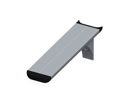 Alfer coaxis®-Regalträger, T 150 x H 51 mm, Aluminium blank