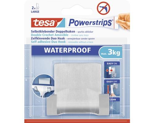 Support à crochets double Tesa Zoom blanc Waterproof