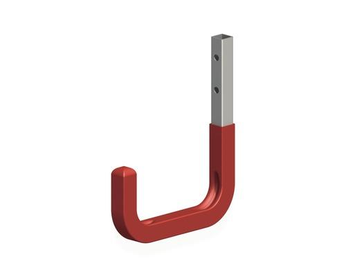 Alfer Wandhaken gummiert 80 x 115 mm, Stahl verzinkt rot