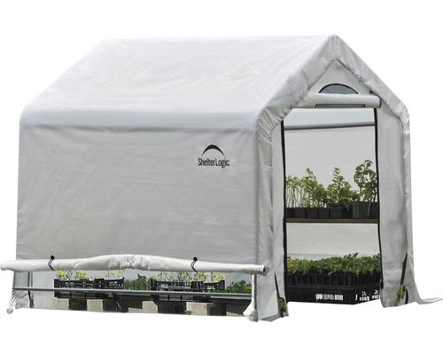 Serre avec bâche ShelterLogic 180x180 cm blanc