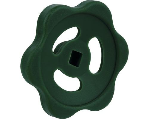 Handrad für Absperrhahn, grün