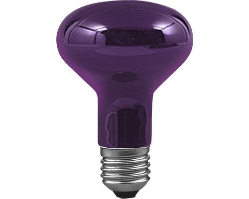 Ampoule à réflecteur R80 E27 75 W lumière noire