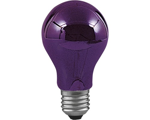 Ampoule à usage universel E27 75 W lumière noire