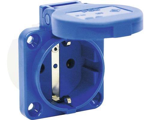 Prise de courant avec mise à la terre CEE PCE 16A IP54 3 pôles bleue
