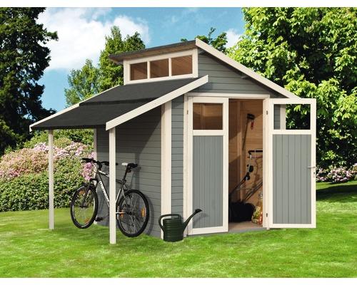 Abri de jardin Studio Kit 1, 290x202 cm, gris clair - HORNBACH ...