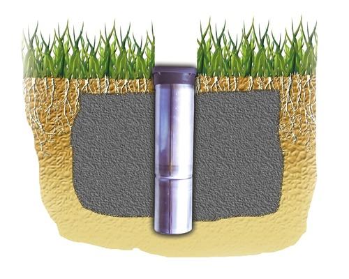 Douille de sol JUWEL pour séchoir-parapluies Novamatic, Novaplus, Comfort 50mm