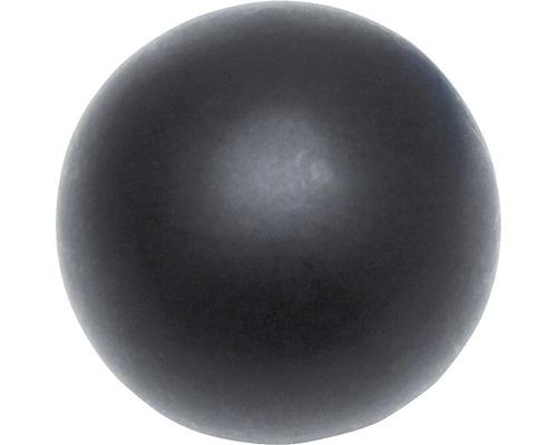 Embout Memphis boule noir Ø 16 mm lot de 2