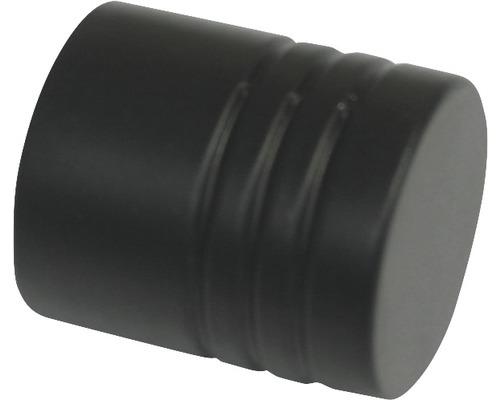 Embout Memphis cylindre noir Ø 16mm lot de 2