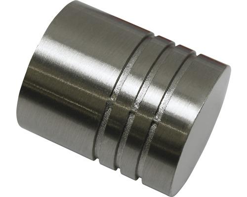Embout Chicago cylindre aspect acier inoxydable Ø 20mm lot de 2