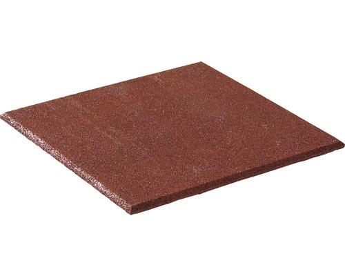 Dalle de protection anti-chute terralastic 50x50x2.5cm rouge-brun