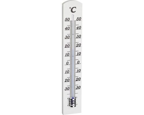 TFA Thermomètre en bois, 18 cm, blanc