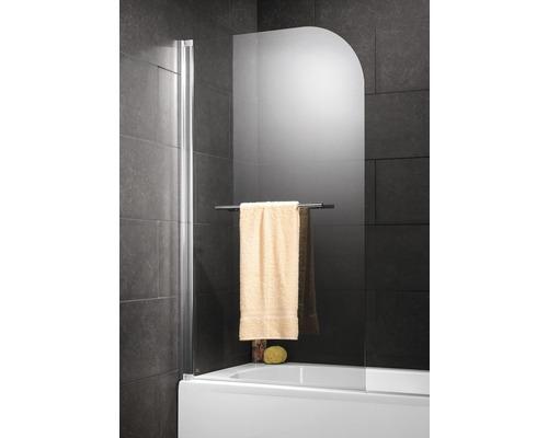 Pare-baignoire Schulte 1 pièce Verre véritable transparent Alu-Nature sans percer