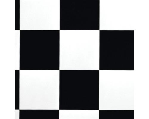 PVC Lord Aspect échiquier Noir-blanc Largeur 400 Cm