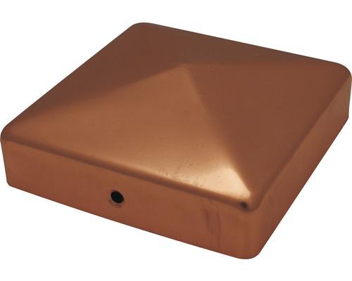 Couvre poteau sans boule, 7x7 cm, cuivre