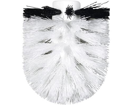 Tête de rechange pour brosse de WC en noir et blanc