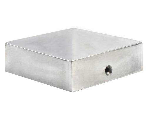 Couvre poteau, 7x7 cm, aluminium