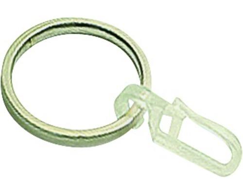 Anneau pour rideaux avec crochet en acier inoxydable Ø 19mm paquet de 6