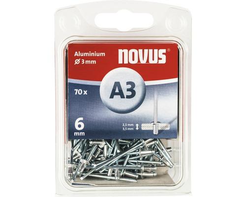 Novus Blindnieten Aluminium Ø 3x6 mm 70er Pack