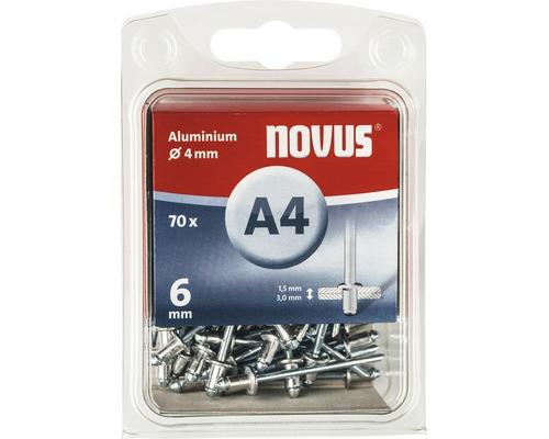 Novus Blindnieten Aluminium Ø 4x6 mm 70er Pack