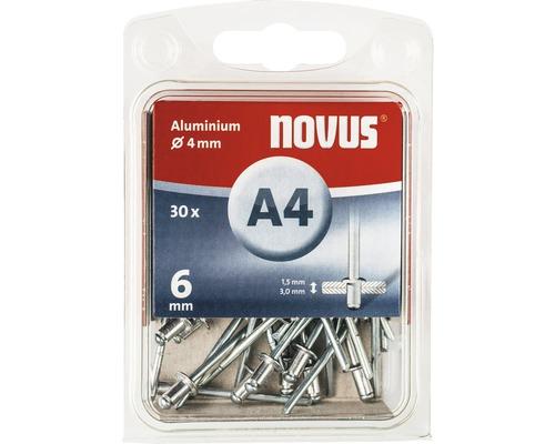 Novus Blindnieten Aluminium Ø 4x6 mm 30er Pack