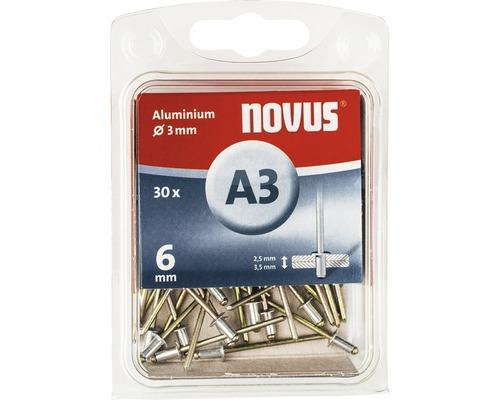 Novus Blindnieten Aluminium Ø 3x6 mm 30er Pack