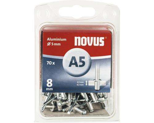 Novus Blindnieten Aluminium Ø 5x8 mm 70er Pack