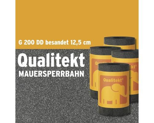Bande bitumée pour ouvrages de maçonnerie Qualitekt sablée G200 DD rouleau 10m largeur 12,5cm