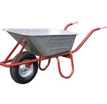 CAPITO Profi Tiefmuldenkarre EUROCAR 100 Liter Tiefmulde, Lufträder mit Blockprofil und Stahlfelge inkl. ergonomische Buchenholzgriffe-thumb-0