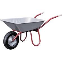 CAPITO Profi Bauschubkarre PRAKTICA 85 Liter Flachmulde, Lufträder mit Blockprofil und Stahlfelge inkl ergonomische Buchenholzgriffe-thumb-0