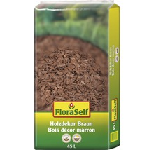 Holzdekor 10-40 mm FloraSelf braun 45 L-thumb-0