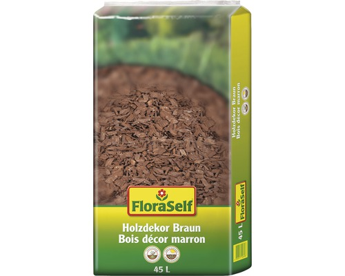 Holzdekor 10-40 mm FloraSelf braun 45 L-0
