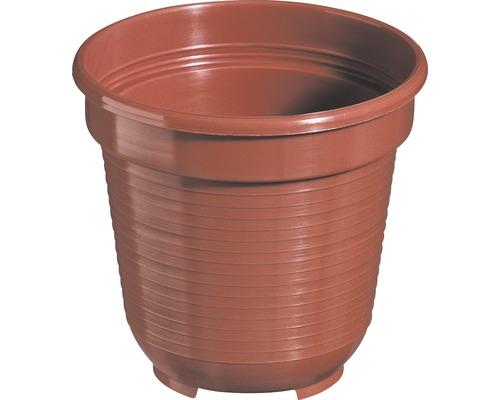 Pot de fleurs Geli, plastique, Ø 10 H 9 cm, terre cuite