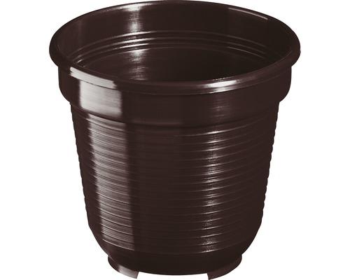Pot de fleurs Geli, plastique, Ø 10 H 9 cm, brun