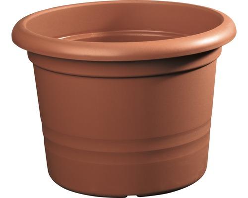 Pot de fleurs Geli Montana plastique Ø 25 H 20 cm terre cuite