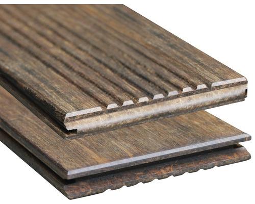 Planche pour terrasses Bambou 1850 x 137 x 18mm thermotraitée pose sans fin possible