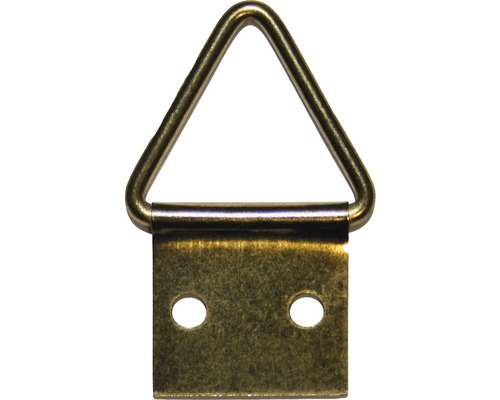 Attaches triangulaires pour tableaux avec pointes, revêtues de laiton, taille 2, 10 unités