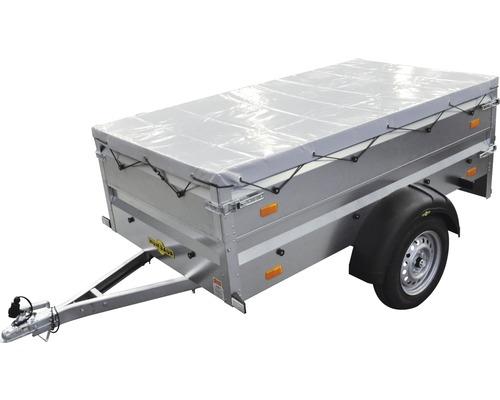 Remorque à un essieu Humbaur Steely Cover Plus 2050x1095x600mm non freinée avec rehausse de ridelle et bâche plate poids total adm. 750kg