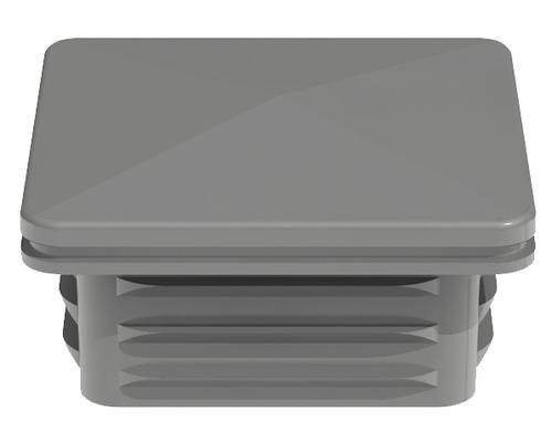 Cache de poteau Belfort, 6x6 cm, gris argent