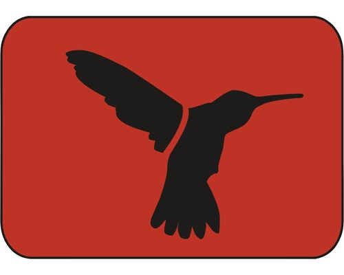 Pochoir colibri 20,5 x 14,5 cm