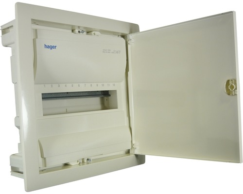 Tableau électrique en saillie Hager 1 rangée 12 modules