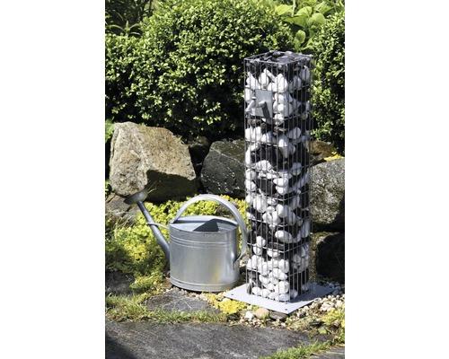 Fontaine robinet gabion 16x16x90 cm
