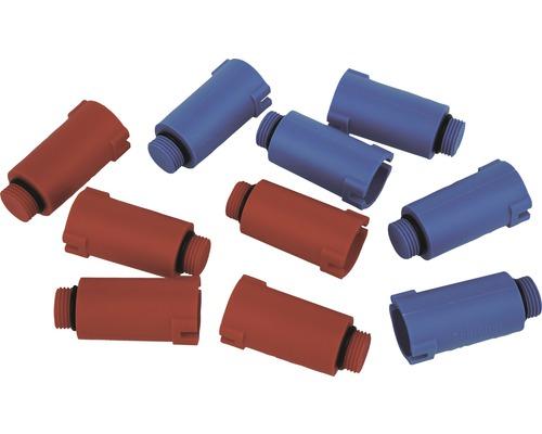 """Bouchon de montage 5 bleus/5 rouges ½"""""""