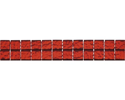 Bordure verre GL-510002 rouge 29,8x4,8 cm