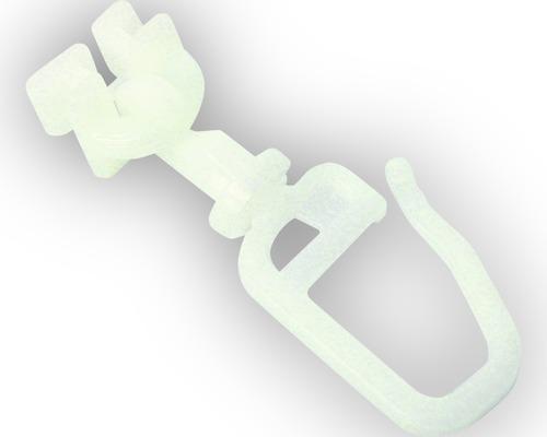 Coulisse pivotante avec agrafe pour voie à rideau pour conduit de roulement de 6 mm, lot de 20